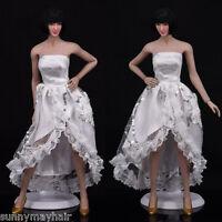 """1/6 Scale Female Women White Wedding Dress Skirt F 12"""" PHICEN Action Figures"""