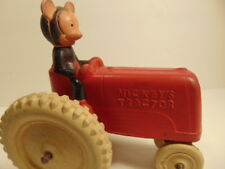 """Vintage hard rubber toy """"Mickey's Tractor"""""""