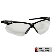 Jackson Nemesis Rx Readers Clear Lens Black Frame Safety Glasses With Diopters