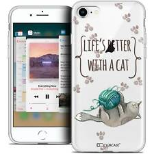 "Coque Crystal Gel Pour iPhone 8 (4.7"") Extra Fine Souple Quote Life's Better Wit"