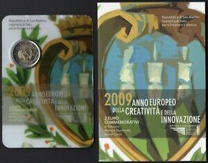 San Marino - Folder 2 euro fior di conio (Creatività e innovazione), 2009