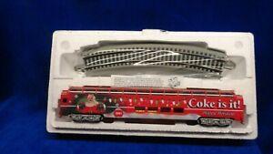 Hawthorne 1940's Village Coca Cola Dome Car O Train Car NIB &  COA CHRISTMAS