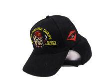 USMC Bulldog Once a Marine Always a Marine Embroidered Hat Cap