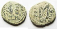 Zurqieh -as11233- Original Desert Patina: Byzantine. Justin Ii & Sophia. Ae Foll