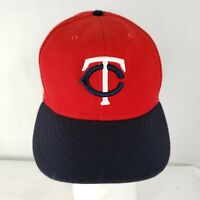 New Era 59fifty 7 1/2 Minnesota Twins Fitted Hat MLB Red And Navy On Field Cap