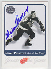 Marcel Pronovost Red Wings Hall of Fame HOF SIGNED CARD AUTOGRAPHED