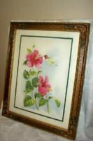 ARTS & CRAFTS BARBOLA POLYCHROME FRAME VINTAGE THE ANNA'S HUMMINGBIRD PRINT