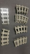 LEGO 9v TRAIN TRACK LOT -  17 PIECES OF TRACK