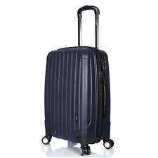"Luggage X Lightweight Suitcase Medium Size 60cm (24"") Navy Blue 4 Double Wheels"