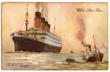 RMS Olympic Post Card Unposted TItanic and White Star Line Interest