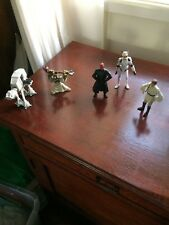 Star Wars Mixed Lot, 4 Five Figurines and  AT-AT Land Vehicle, All LFL