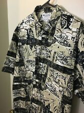 Columbia Sportswear Portlandia Cotton Fish Pattern Button Size XL Shirt