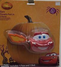 Halloween Disney Lightning McQueen Cars Pumpkin Push In 2 Piece Face & Bolt NIP