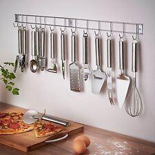 Home Kitchen Stainless Steel 12 Piece Utensil Gadget Set & Hanging Holder /Rack