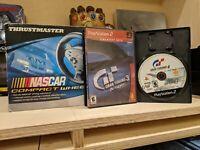 Thrustmaster Nascar Compact Wheel + Gran Turismo 4 & 3 A-Spec Playstation LOT