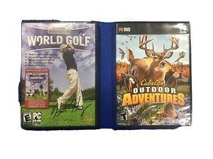 Pc Dvd-rom Hank Haney World Golf And Cabelas Outdoor Adventures Games