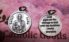 Saint St. Jude - Lord Grant me the courage.... - Silver Tone Round- Medal