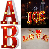 A To Z LED Red Letter Lights DIY Combination Words Night Light Romantic Ornament