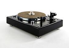 Restaurierter & Modifizierter Thorens TD 166 spezial Plattenspieler in schwarz