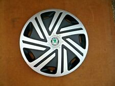 "SINGLE SKODA CYRKON 14"" WHEEL TRIM - USED"