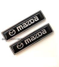 2PCS MAZDA Luxury Auto Car Body Fender Metal Emblem Badge Sticker Decal