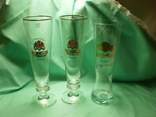 3  Biergläser 2 X Wolters Pilsener 0,4L und 1 X 0,5   Schöfferhofer Weizen
