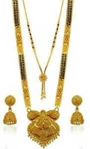 Beautiful Brass Gold-plated Jewel Set (gold)women mangalsutra for sale