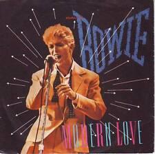 "DAVID BOWIE Modern Love PICTURE SLEEVE 7"" 45 rpm record + juke box title strip"