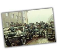 "War Photo Surrendered German troops and vehicles WW2 Glossy Size ""4 x 6"" inch S"