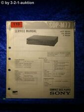 Sony Service Manual CDP M77 CD Player (#0110)