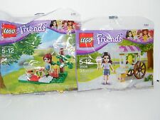 LEGO 30106 30108 Friends Emma & Mia Ice Cream Stand Summer Picnic Cart