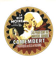 Etiquette de Fromage Ancienne  Camembert  Le Bon Moine  No 303
