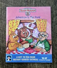 TEDDY RUXPIN Adventure in The Snow - 1987 Quaker Oatmeal Promo Booklet - Vintage