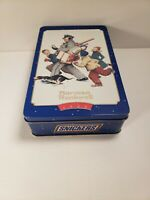 1996 Norman Rockwell Limited Edition Snickers Candy Bar Christmas Tin Empty