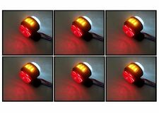 6 X LED RED WHITE ORANGE SIDE MARKER LIGHTS INDICATOR TRUCK TRAILER LORRY 24V
