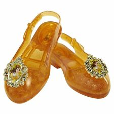DISNEY PRINCESS BELLE LIGHT UP SHOES FANCY DRESS COSTUME  ACCESSORY SOFT JELLY