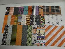 HALLOWEEN SCRAPBOOK PAPER CARDS 6X6 VARIETY ART CRAFT STACK LOT