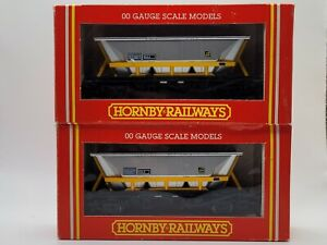 Hornby 2 x R033 OO Gauge HAA MGR Coal Hopper Wagon No.350897
