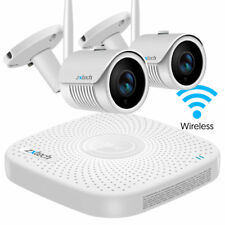 2 Zxtech Wireless 1080p Weather Proof NightVision CCTV Camera NVR HDD DIY System
