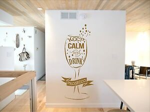 Prosecco, Keep Calm and Drink Prosecco, Glass, Fun  Wall art vinyl decal sticker