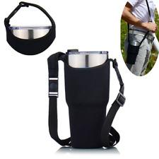 Black Travel Cup Sleeve Bag for 30Oz Rambler Tumbler Rtic YETI Ozark Mug Holder