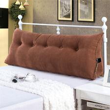 Cushion Triangular Pillow Wedge Backrest Bolster Headboard Reading Lumbar Soft