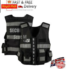 More details for tactical security duty patrol vest hi viz black sia industry door staff