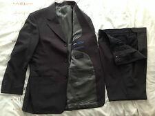 Men's MILAN Collection 2 Pezzi Marrone Scuro/Grigio Tuta, Pantaloni Giacca 40R 40R