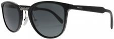 New Prada Sunglasses OPR 22SS 1AB1A1 Shiny Black w/ Grey Lens Authentic 52mm