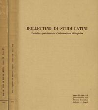 BOLLETTINO DI STUDI LATINI anno III. PERIODICO QUADRIMESTRALE D'INFORMAZIONE BIB