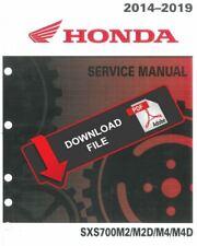 Honda 2017 Pioneer 700 Service Manual