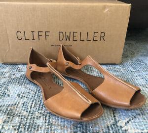 NIB CYDWOQ Cliff Dweller Timber Sandals Tan Sz 39 Ret $268