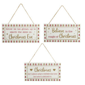 wooden Christmas glitter signs