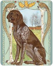 German Shorthair Pointer Cutting Board Tempered Glass